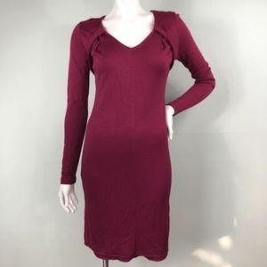 Elie Tahari Sheath Dress Wool Modal Pleated